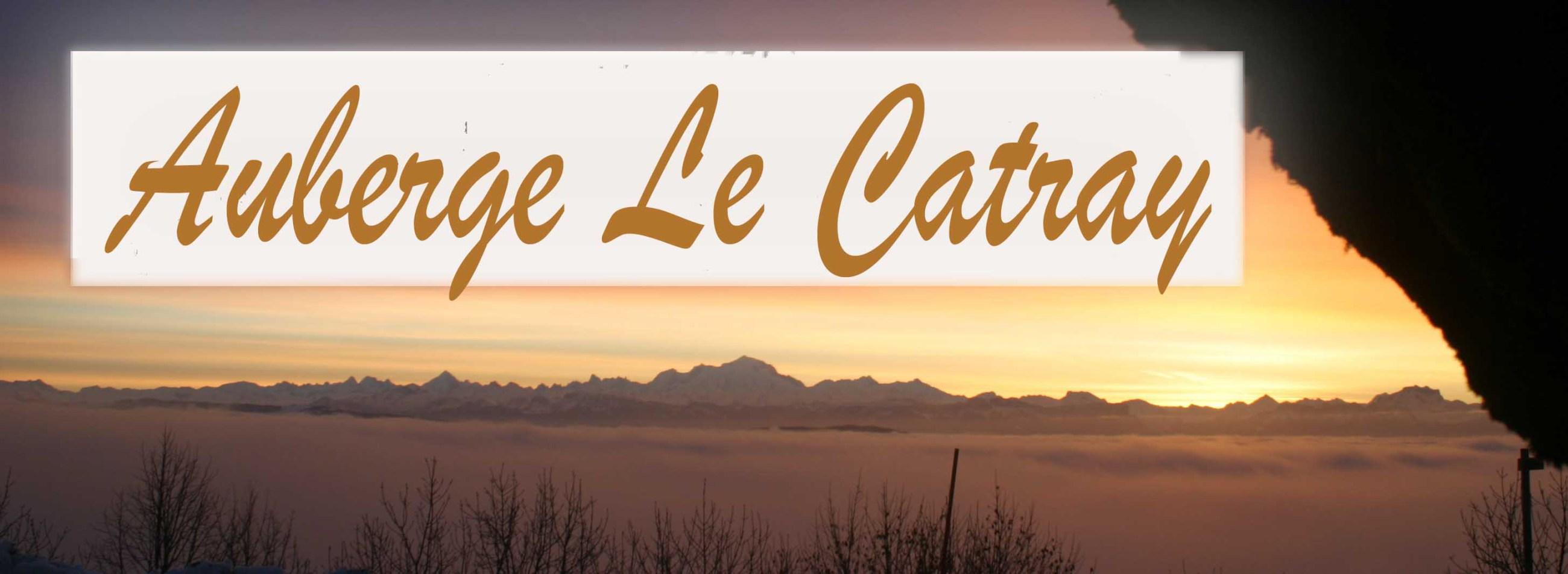 Vue sur les Alpes depuis l'Auberge Le Catray